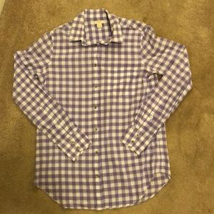 EUC JCrew Gingham Button Down - Size XS